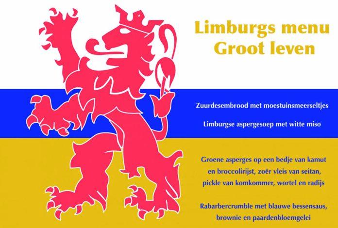 De gasten konden de verschillende gerechten van het Limburgse menu van de placemat halen. Alle gerechten zijn vegan. (Foto Erik van Huizen)