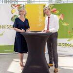 Frank Hessing en Saskia Goetgeluk tekenden onlangs de samenwerkingsovereenkomst. (Foto Brightlands Campus Venlo)