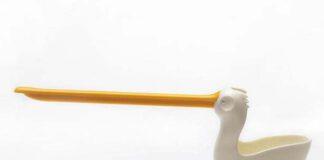 Met de Pelix, zoals de ontwerpers de pelikaan liefkozend hebben genoemd, houd je je aanrecht netjes opgeruimd.